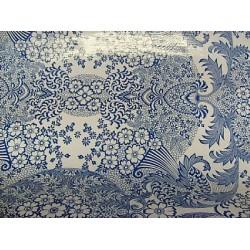 Mexican oilcloth paraiso blue - off the roll